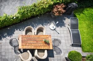 écran végétal construit entre deux espaces
