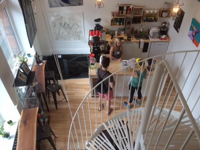 Café Lali, Montréal - Vue à partir de la mezzanine.