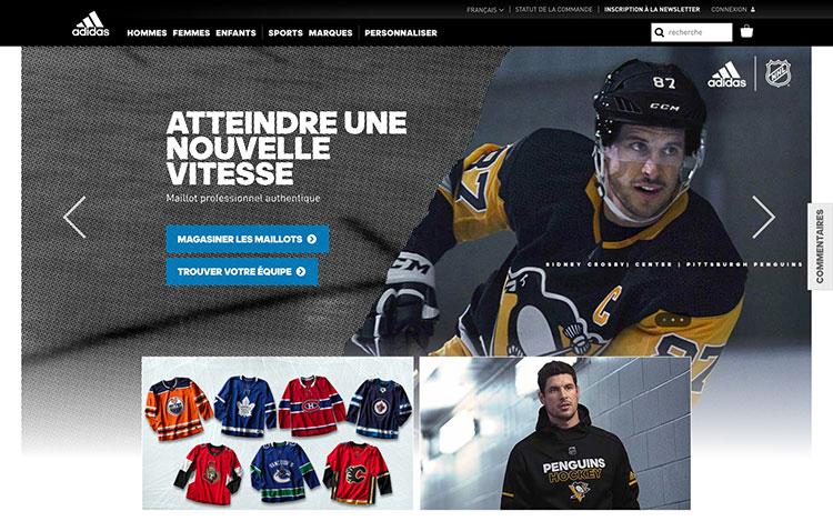 L'objectif principal du site Web d'Adidas est de promouvoir et de vendre les produits de la compagnie. Source : http://www.adidas.ca